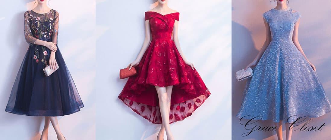 可憐なドレスも新品レンタルドレス